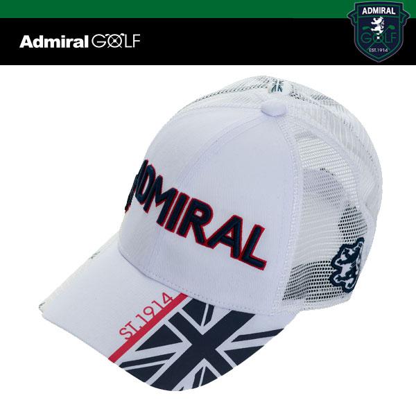 アドミラル ゴルフ メンズ ハーフUJ メッシュ キャップ ADMB 908F ADMIRAL GOLF