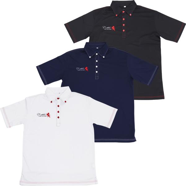 日本正規代理店 ピレッティ ポロシャツ ロゴ ボタンダウン ゴルフ PR-WR0001 / Piretti Polo Shirts