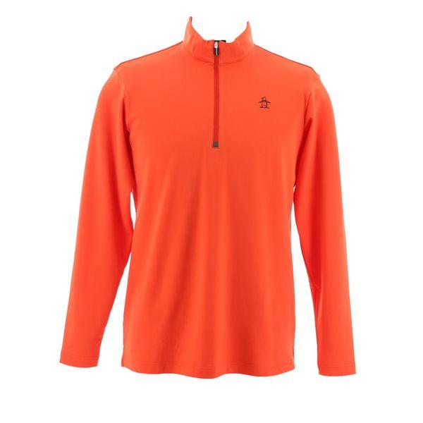 マンシングウェア MUNSINGWEAR ゴルフ 秋冬 メンズ 長袖シャツ(ニット) MGMMJB22 OR00 オレンジ 18fwct
