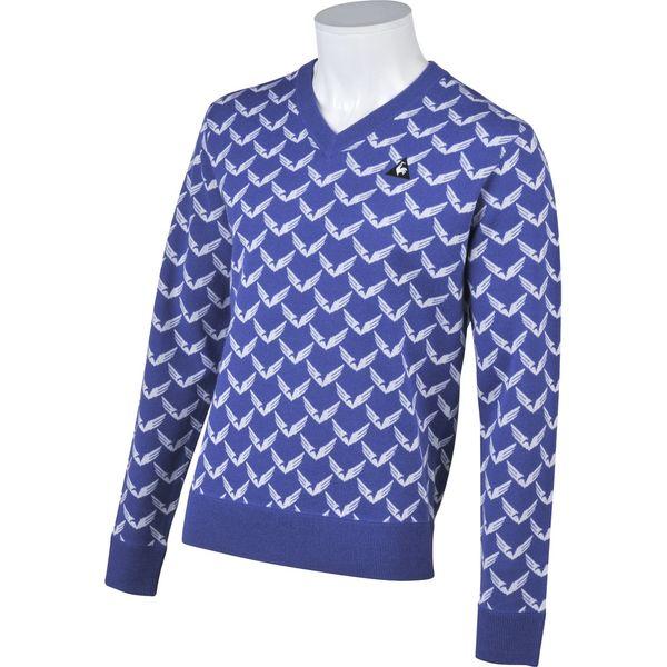 ルコック ゴルフウェア メンズ セーター/カーディガン QGMMJL02 BL00 ブルー le coq sportif 秋冬 18fwct