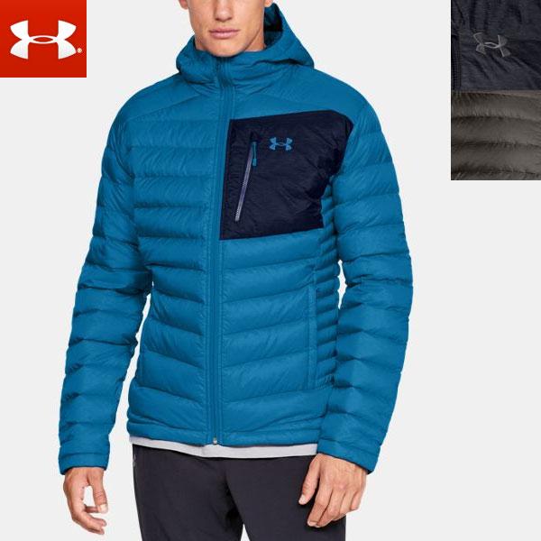 アンダーアーマー メンズ ダウン ジャケット ジップアップ 長袖 1315996 (防寒 フード はっ水 UAストーム) UNDERARMOUR UA Iso Down Hooded Men's Jacket