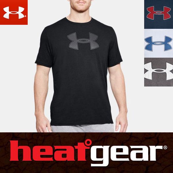 Under Armour heat gear UA big logo graphic short sleeves men T-shirt  1314004 ARMOUR HEATGEAR USA model 04ad5dd41