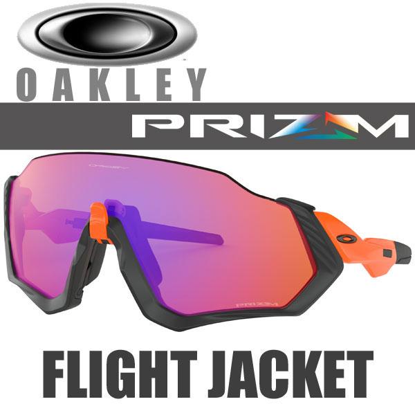 オークリー プリズム トレイル フライトジャケット サングラス OO9401-0437 スタンダードフィット OAKLEY PRIZM TRAIL FLIGHT JACKET / ネオンオレンジ フレーム