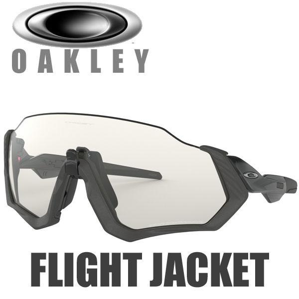 オークリー 調光レンズ フライトジャケット サングラス OO9401-0737 スタンダードフィット OAKLEY PHOTOCHROMIC FLIGHT JACKET / グレーインク