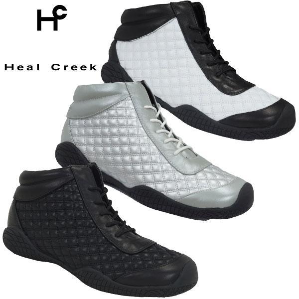 ヒールクリーク HEAL CREEK レディス スパイクレス ハイカット ゴルフシューズ 003-36862 (牛革 + 合成皮革)