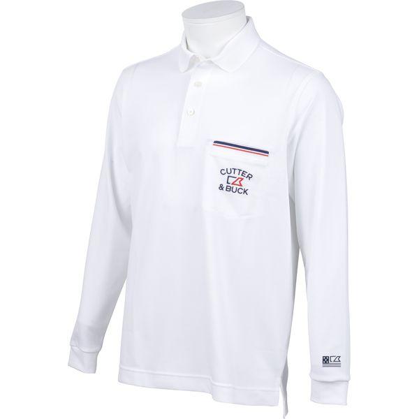 カッター&バック CUTTER & BUCK ゴルフ メンズ 長袖シャツ CGMLJB02 WH00 18ssct