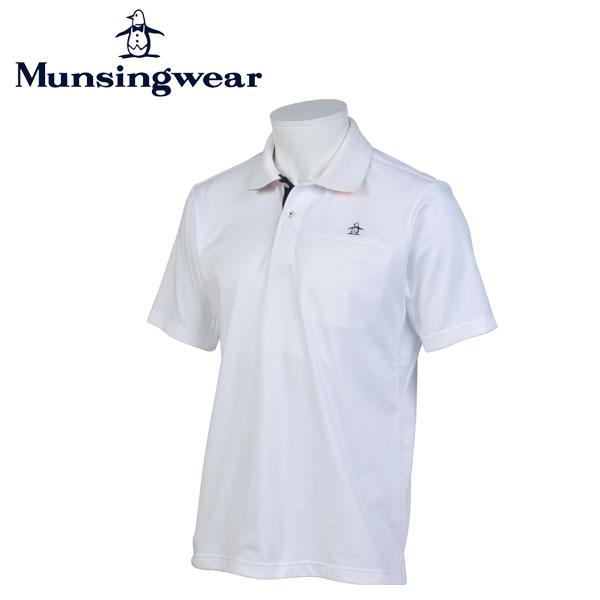 マンシングウェア MUNSINGWEAR ゴルフ メンズ 半袖 ボタン シャツ シャツ JWMJ230 N950 ホワイト 17sscz