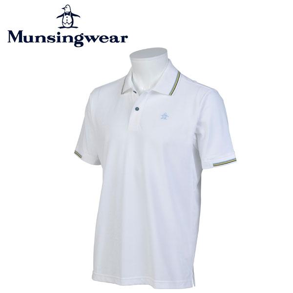マンシングウェア MUNSINGWEAR ゴルフ メンズ 半袖 ボタン シャツ シャツ JWMJ234 N950 ホワイト 17sscz