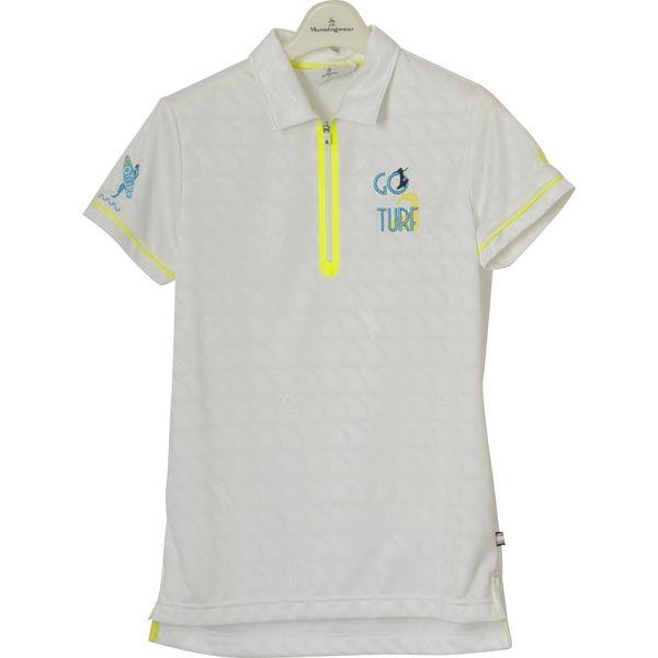 マンシングウェア レディース ゴルフウェア 半袖シャツ MGWLJA24 WH00 Munsingwear 春夏 18ssct