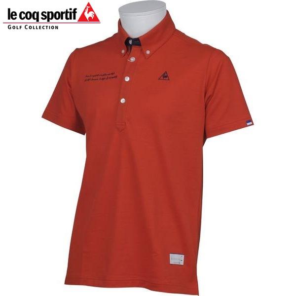 ルコック ゴルフウェア メンズ 半袖 ポロシャツ QG1505 R453 バルドー 18sspz