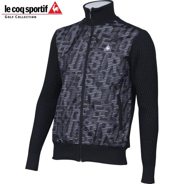 ルコックスポルティフ LE COQ SPORTIF ゴルフ メンズ 長袖フルジップセーター QG4212 N151 ブラック 17fwcz