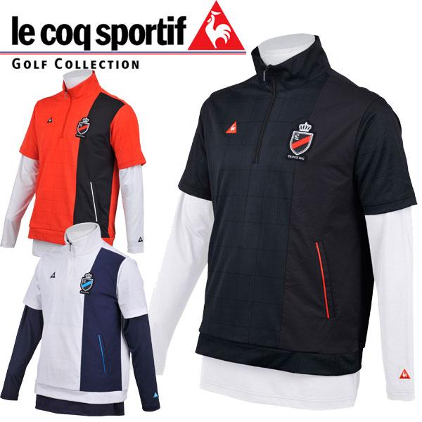 ルコックスポルティフ le coq sportif ゴルフ メンズ 長袖 インナー付き 半袖シャツ QGMLJL52W 18sspz