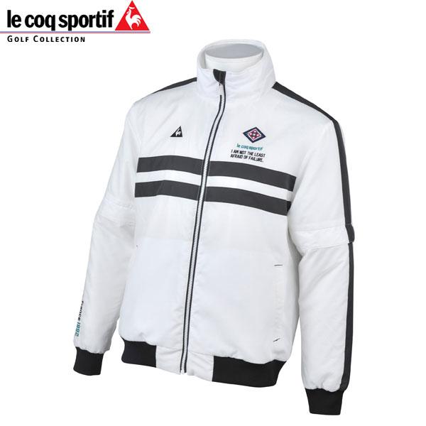 ルコック スポルティフ ゴルフ メンズ 中綿 ジャケット ブルゾン 長袖 (袖取り外し可能) QGMMJK05 WH00 ホワイト le coq sportif GOLF 18fwpz