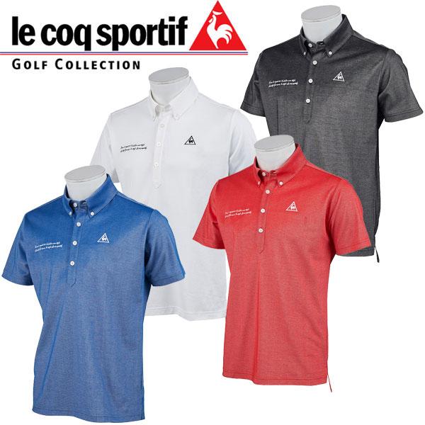 ルコック ゴルフウェア メンズ 半袖 ボタンダウン ポロ シャツ / トリコクラブ QGMNJA01  19sspz