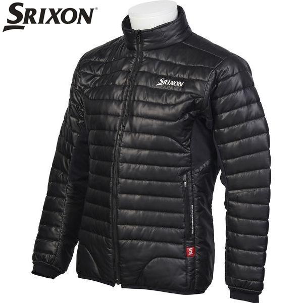 ダンロップ スリクソン DUNLOP SRIXON ゴルフ メンズ 長袖フルジップ中綿ジャケット アウター SRM4077F BLK ブラック 17fwcz