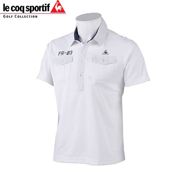 Le Coq Sportif men golf short sleeves polo shirt QG2973 color  N942 white le  coq sportif GOLF 16sscz 4827246f6