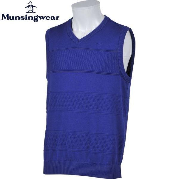 マンシングウェア ゴルフ メンズ ニット ベスト SG5080 カラー:M308 ブルー Munsingwear 16fwcz