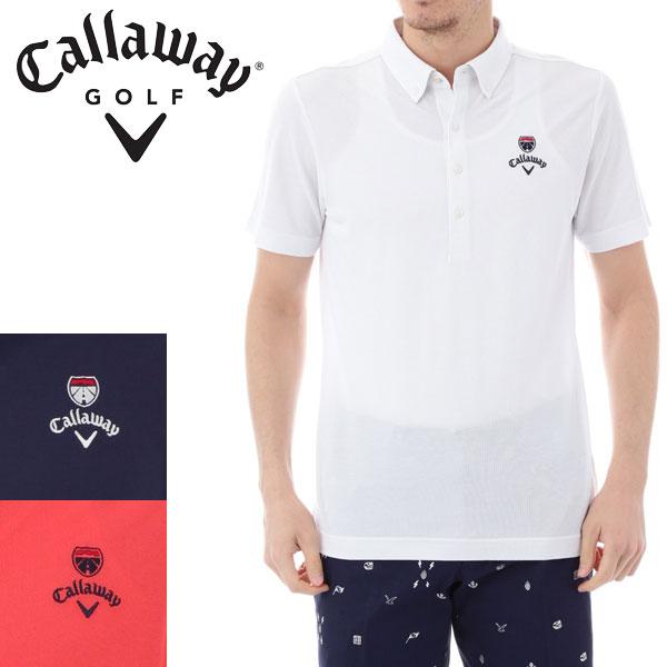 キャロウェイ アパレル ゴルフ 鹿の子 ショートBDカラー 半袖シャツ 7157519 CALLAWAY GOLF