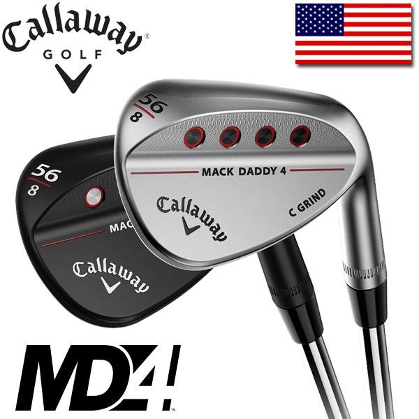 即納 キャロウェイ ゴルフ 2018年 マックダディ4 ウェッジ (クロムメッキ / マットブラック) CALLAWAY GOLF MACK DADDY 4 USAモデル