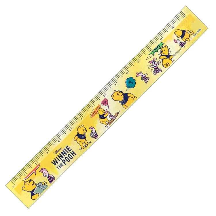 Disney 文具 かわいい  ディズニーくまのプーさん 15cm定規(イエロー)★ハニーナッツ★