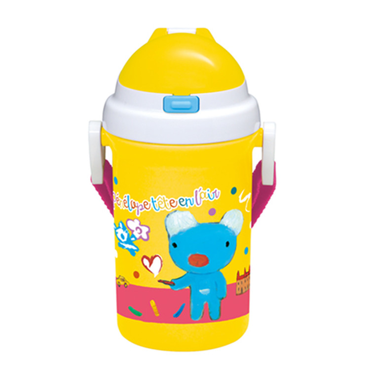 気質アップ 子供 キャラクター ランチ 遠足 ラッピング無料 お弁当 400ml 水筒 ペネロペ KBS4 ストロー付プラボトル