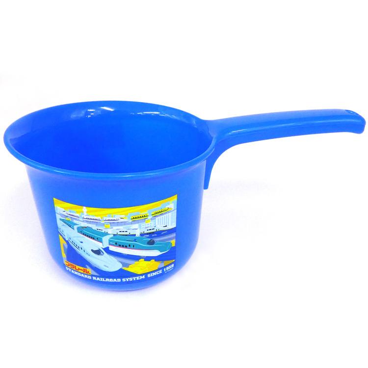 お風呂 お風呂グッズ 洗面器 風呂おけ 子供用 おけ  プラレール BS25N 子供片手おけ