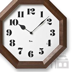 Lemnos WR11-01 レムノス 八角の時計  掛時計/掛け時計/かけ時計/壁掛け/北欧/おしゃれ/デザイン時計/インテリア時計