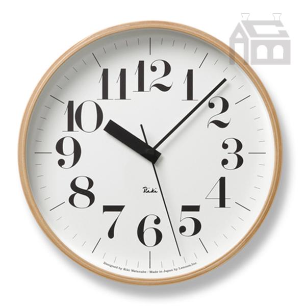 [クーポン対象商品] Lemnos Riki Clock レムノス リキ クロック RC WR20-02 WH 電波時計 掛け時計 かけ時計