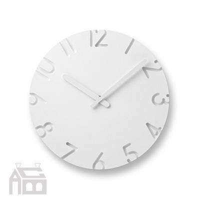 壁掛け時計 *受注後に納期をご連絡いたします。 Lemnos CARVED WOOD BIRCH -NTL16-04- 【タカタレムノス カーヴド ウッド ウォールクロック シンプル 掛け時計 壁時計 デザイン雑貨 北欧】