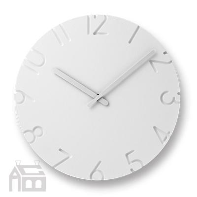 Lemnos CARVED NTL10-19  掛時計/壁掛け時計/かけ時計/北欧/ウォールクロック/壁時計/デザイン時計/インテリア時計