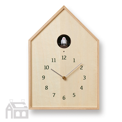 Lemnos Birdhouse clock レムノス バードハウスクロック NY16-12  掛時計/掛け時計/かけ時計/壁掛け/北欧/おしゃれ/置き時計/デザイン時計/インテリア時計