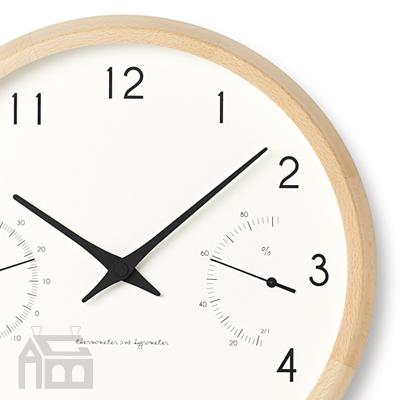 Lemnos Campagne air 電波時計 カンパーニュ エール PC17-05 温湿度計/掛時計/壁掛け時計/かけ時計/北欧/ウォールクロック/壁時計/デザイン時計/インテリア時計