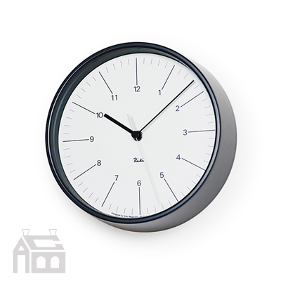 Lemnos RIKI STEEL CLOCK WR17-10 レムノス 掛け時計/壁掛け時計/北欧/リキクロック