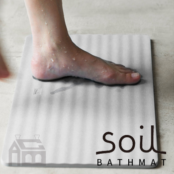 SOIL BATH MAT wave ソイル バスマット ウェーブ  珪藻土/調湿