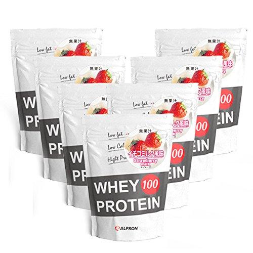 【7個セット】[ 送料無料 ]アルプロン WPC ホエイプロテイン100 イチゴミルク 1kg(約50食) | 正規品 ALPRON プロテイン whey たんぱく質 アミノ酸スコア100 筋トレ ダイエット プロテインダイエット 女性 男性 公式