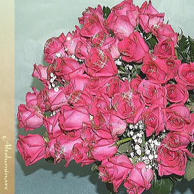 送料無料!輝くバラの花束 ピンク100本のブーケ【_メッセ入力】【_名入れ】【お誕生日祝い 入学祝い 出産内祝い 快気祝い 出産祝い 送料込】【YDKG】【SMTB】薔薇 即日発送 即納 クリスマス 送料無料