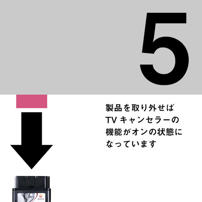 テレビキャンセラーE2PLUGの使い方5