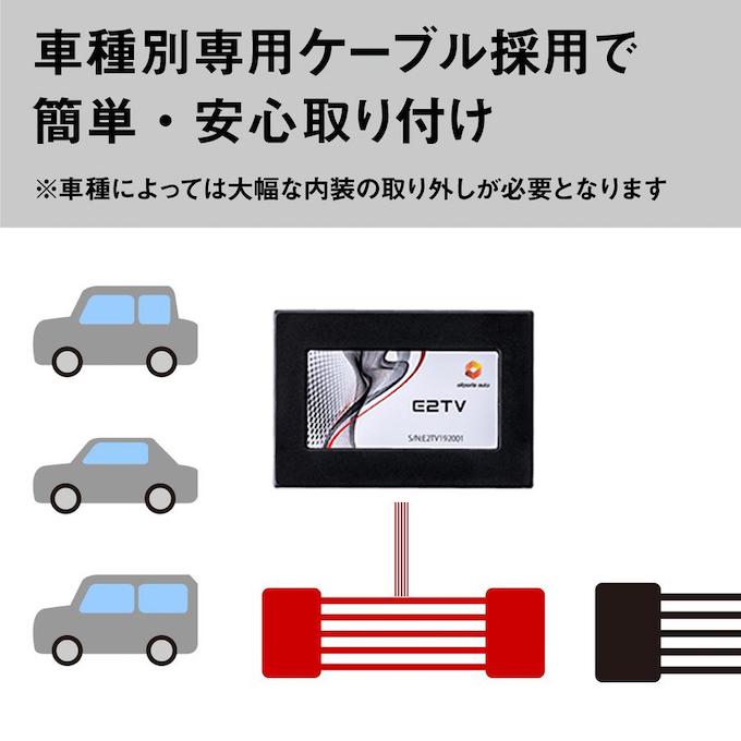 車種別線用ケーブルで簡単安心取付