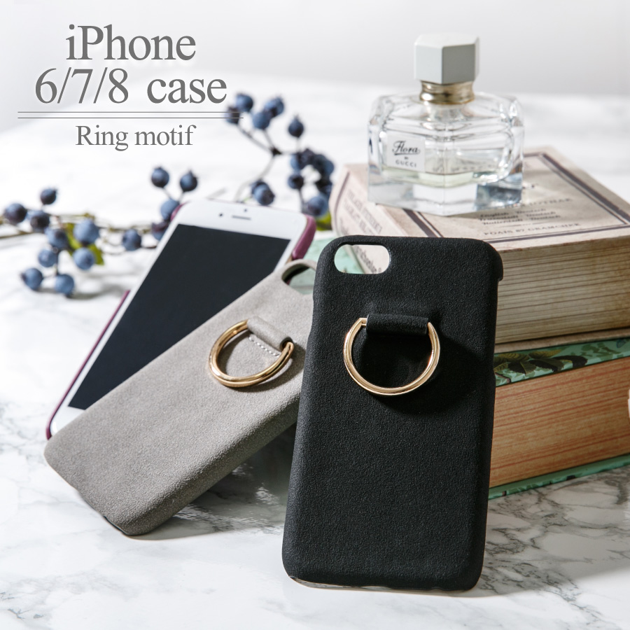 Cover case protection fitting changing clothes change plain fabric ring  motif iPhone cover case [deep] ALTROSE alto Rose with the iPhone6 iPhone6s