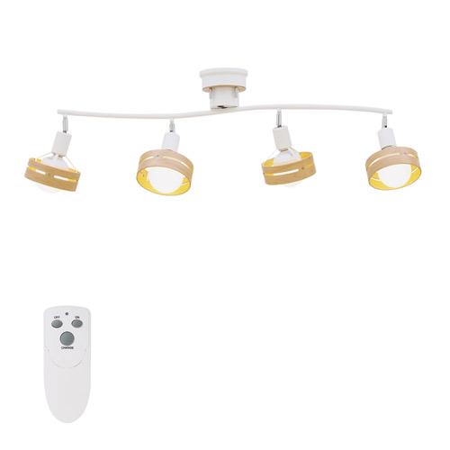 シーリングライト 4灯 アーチェ (ホワイト) リモコン付&電球なし LT-7429WH