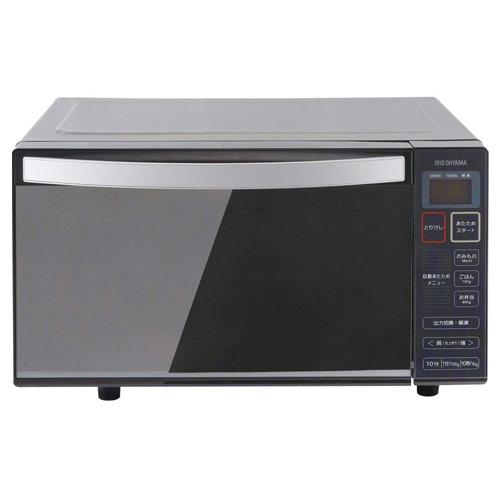アイリスオーヤマ 電子レンジ フラットテーブル ミラーガラス ブラック IMB-FM18-5 フラットタイプ 調理家電 【代引不可】
