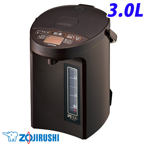 象印 電動ポット 優湯生 3.0L ブラウン CV-GB30-TA マイコン沸とう VE電気まほうびん 電気ポット ポット