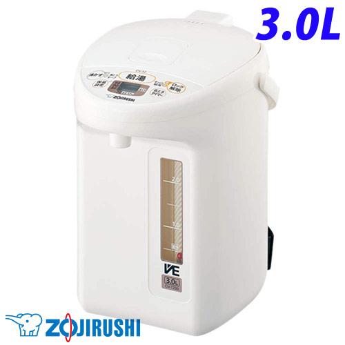 象印 電動ポット 優湯生 3L ホワイト CV-TZ30-WA ZOJIRUSHI マイコン沸とう VE電気まほうびん ポット