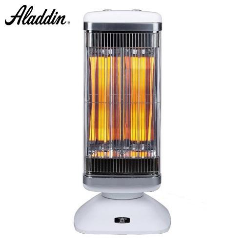 アラジン 電気ストーブ グラファイトヒーター 2灯管 (グラファイトeヒーター&シャットオフセンサー) ホワイト AEH-2G10N(W)