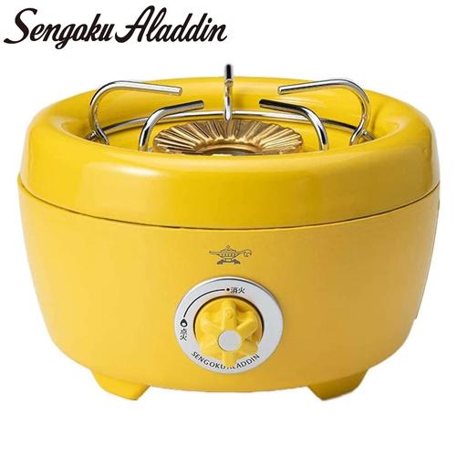 センゴクアラジン ポータブルガスカセットコンロ ヒバリン イエロー SAG-HB01(Y) カセットコンロ アウトドア Sengoku Aladdin