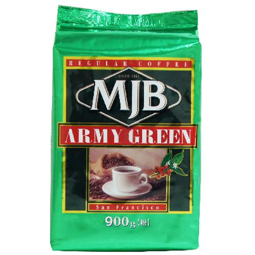 ブラジル レギュラーコーヒー コーヒー ジュース 飲料 シュガー ミルク MJB 粉 ドリップ 大好評です ドリップコーヒー アーミーグリーン詰替用 900g 珈琲 1年保証