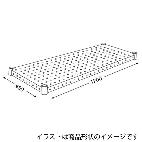 【取寄品】エレクター パンチングシェルフ H1848PW1