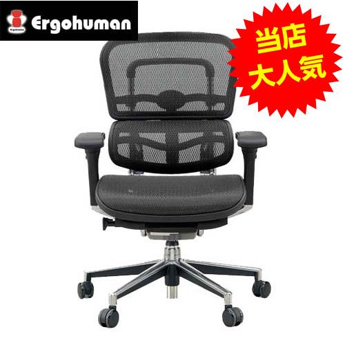 オフィスチェア 「エルゴヒューマンベーシック」ロー・ブラック EH-LAM KM-11BK【代引不可】