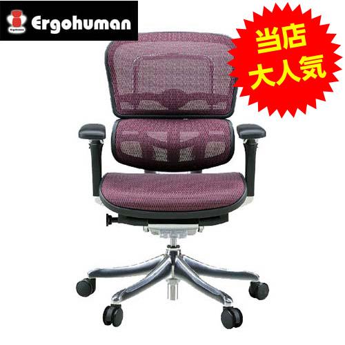 オフィスチェア 「エルゴヒューマンプロ」ロー・レッド EHP-LAM KM-12RD※代引不可