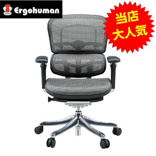 オフィスチェア 「エルゴヒューマンプロ」ロー・グレー EHP-LAM KM-10GY※代引不可